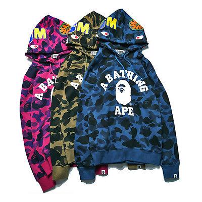 Fashion Japan Men/'s Bape camo Tiger Head Hoodie Coat A Bathing Jacket S-XXL hot