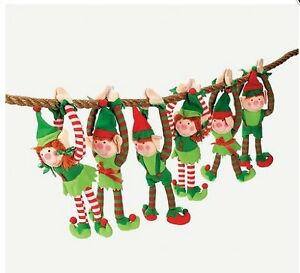 Hanging Christmas Decorations.Details About 12 Deluxe Plush Hanging Christmas Elfs Tree Decorations Holiday