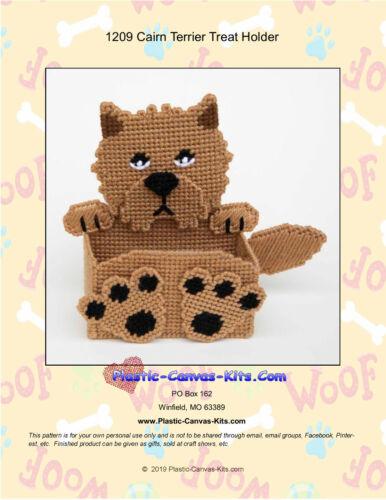 Cairn Terrier Dog Treat Holder-Plastic Canvas Pattern or Kit