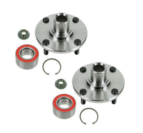 2 Front Wheel Hub and Bearing Kits fit 11-00 Ford Focus with Warranty Pair