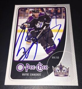 WAYNE-SIMMONDS-SIGNED-AUTOGRAPHED-2010-11-O-PEE-CHEE-255-CARD-NEW-JERSEY-DEVILS