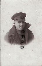 WW1 Soldier 18th London Regiment London Irish Rifles wearing greatcoat