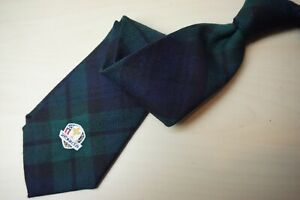 Polo-Ralph-Lauren-Blue-Green-Plaid-Blackwatch-Ryder-Cup-100-wool-Tie