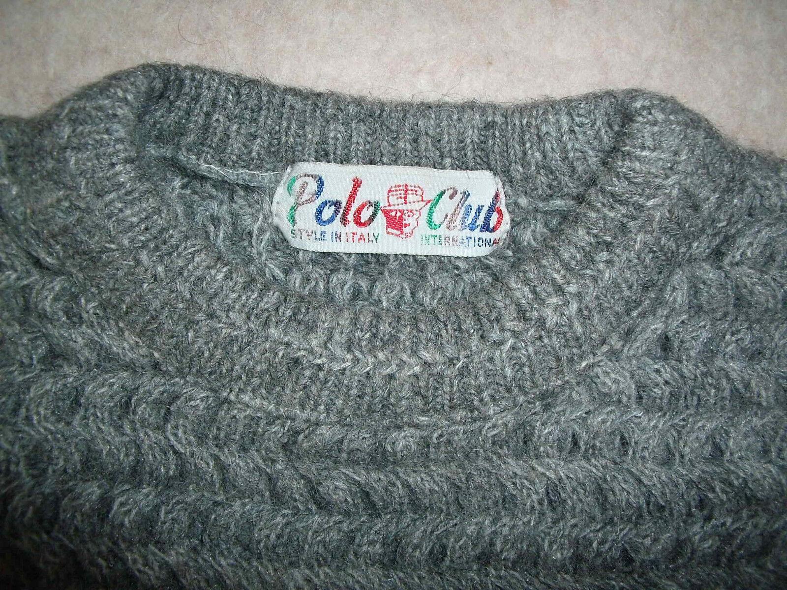 Elegante & calde = UOMO MOHAIR-Pully dal  Polo Club  Tg. 52-54  NUOVO
