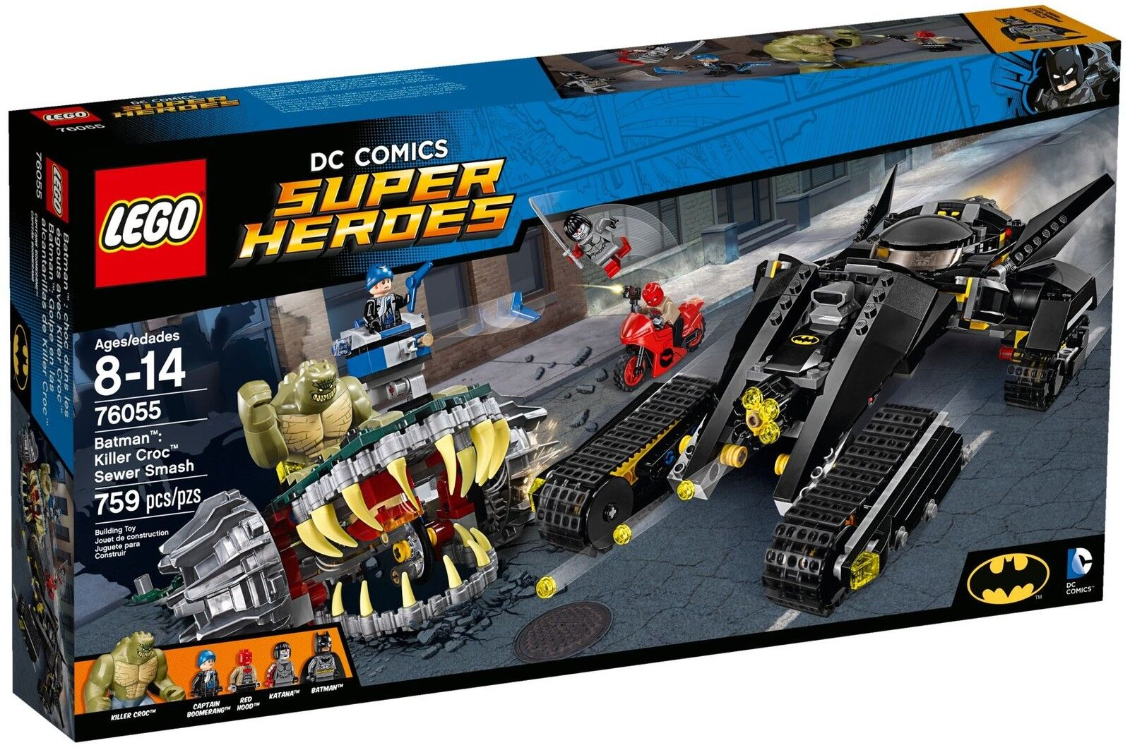 LEGO DC Super Heroes - 76055 Batman: Killer Croc Sewer Smash - Neu & OVP