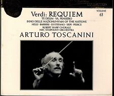 VERDI - REQUIEM - TE DEUM - VA, PENSIERO - TOSCANINI - MINT 2 CD BOX SET