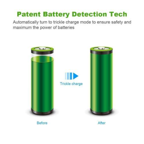 Ni-MH AAA Ni-CD Rechargeable Battery Charger Remo+ EBL 8 Bay AA