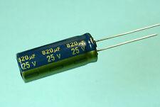 2pcs Panasonic FC 820uf 25V 105C Radial Capacitor NEW