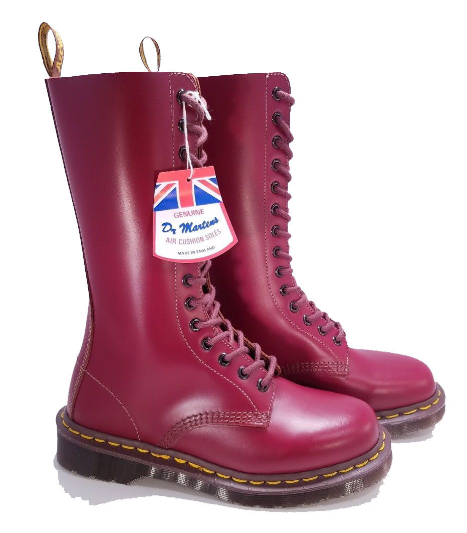 Dr. Martens Doc England MIE Vintage 14 Eye Oxblood 1914 Boots UK 4 US 6