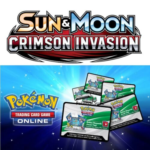 50 Crimson Invasion Codes Pokemon TCG Online Booster sent INGAME / EMAILED FAST!