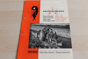 144646 Agrar, Forst & Kommune Rabewerk Dreipunkt Anbau-beetpflüge Prospekt 02/1952 Mild And Mellow