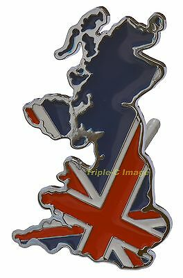 British Isles Union Jack car grille badge (die-cast metal)