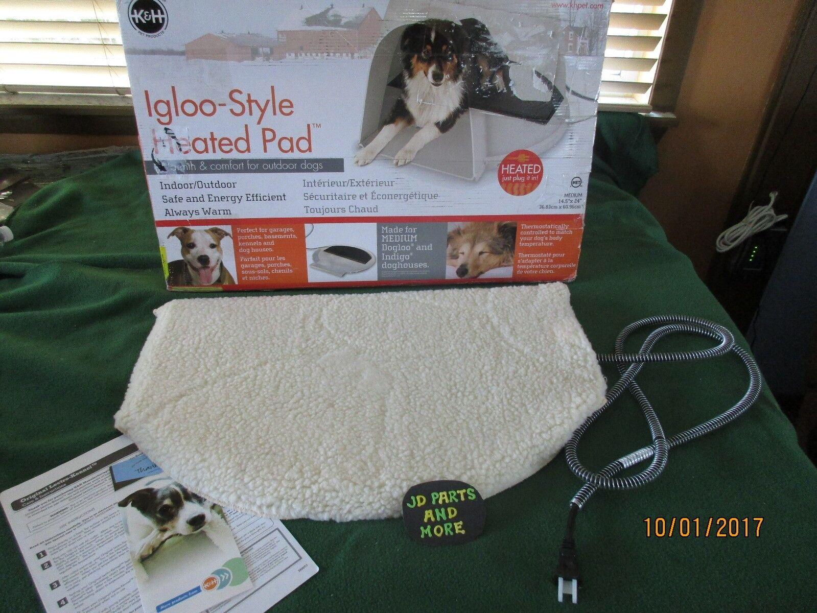bellissimo NEW NEW NEW K&H MEDIUM IGLOO-STYLE HEATED DOG PAD & COVER  INDOOR OUTDOOR 14.5  X  24   negozio online