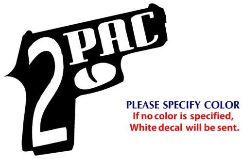 "2pac Metal Graphic Die Cut decal sticker Car Truck Boat Window Laptop 6/"""