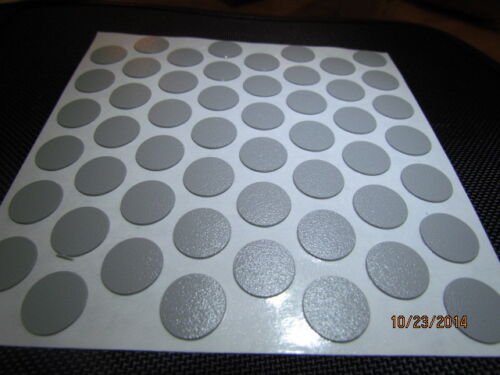 """9//16/"""" Self Adhesive Screw Cap Covers 52 caps FastCaps Dark Grey 1 sheet"""
