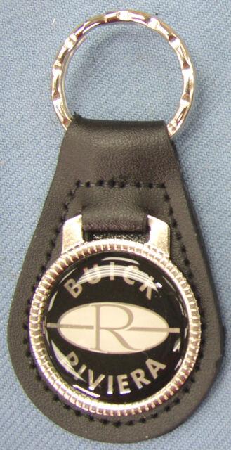 Vintage Black Buick RIVIERA Black Leather Silver Keyring 1987 1988 1989 1990