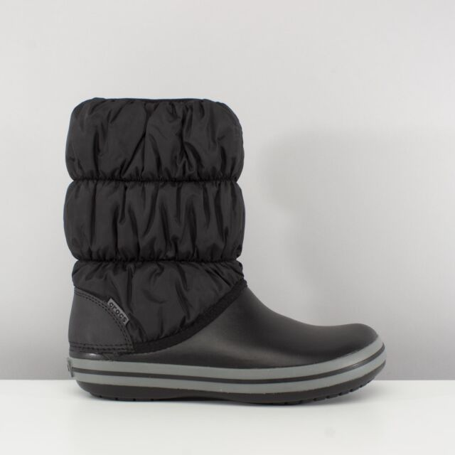 8700cb28701a Crocs WINTER PUFF BOOT Womens Warm Lined Insulated Snow Boots Black Charcoal