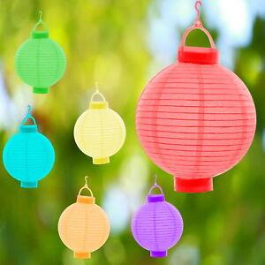 6 Couleurs Papier Lanterne Del Lampion Lampions Lanterne Jardin Ballon Papier Lampion-afficher Le Titre D'origine
