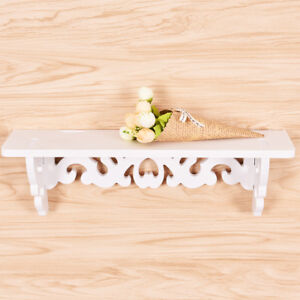 Mode-art-moderne-blanc-etagere-murale-en-bois-presentoir-suspendu