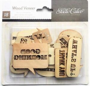 Details About Studio Calico Wood Veneer Speech Bubbles 18pc American Crafts Scrapbook Planner