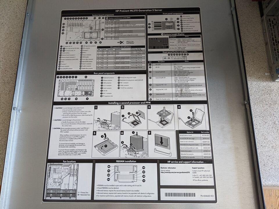 HP, HP ProLiant ML370G5, 1.8 Ghz