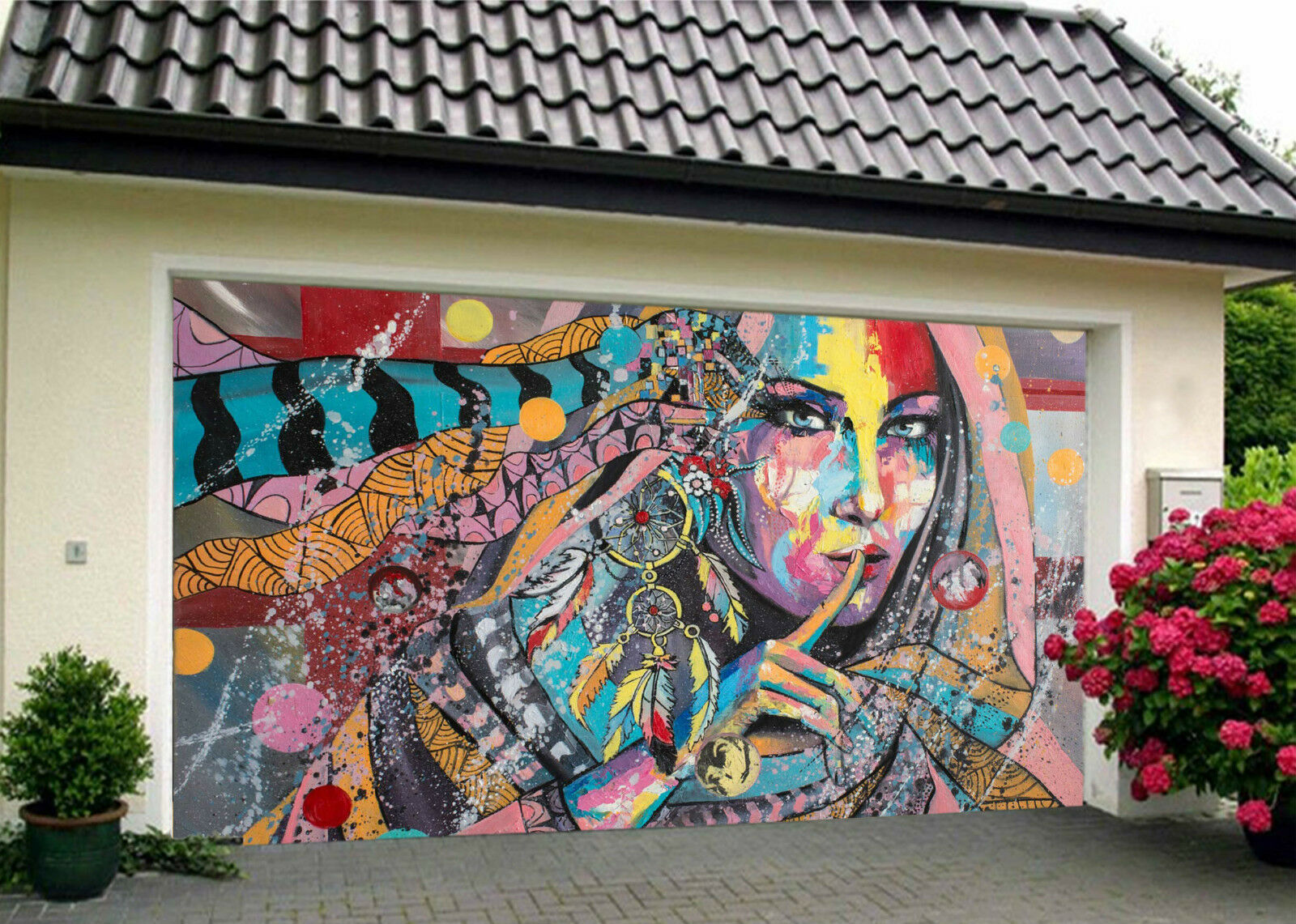 3D Graffiti Damenschuhe 943 Garage Porte Peint en Autocollant Murale AJ WALLPAPER FR