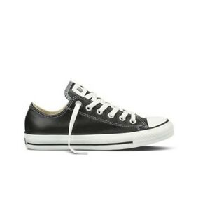 Converse All Star Pelle Chuck Taylor Basse Tutte Nere 2018