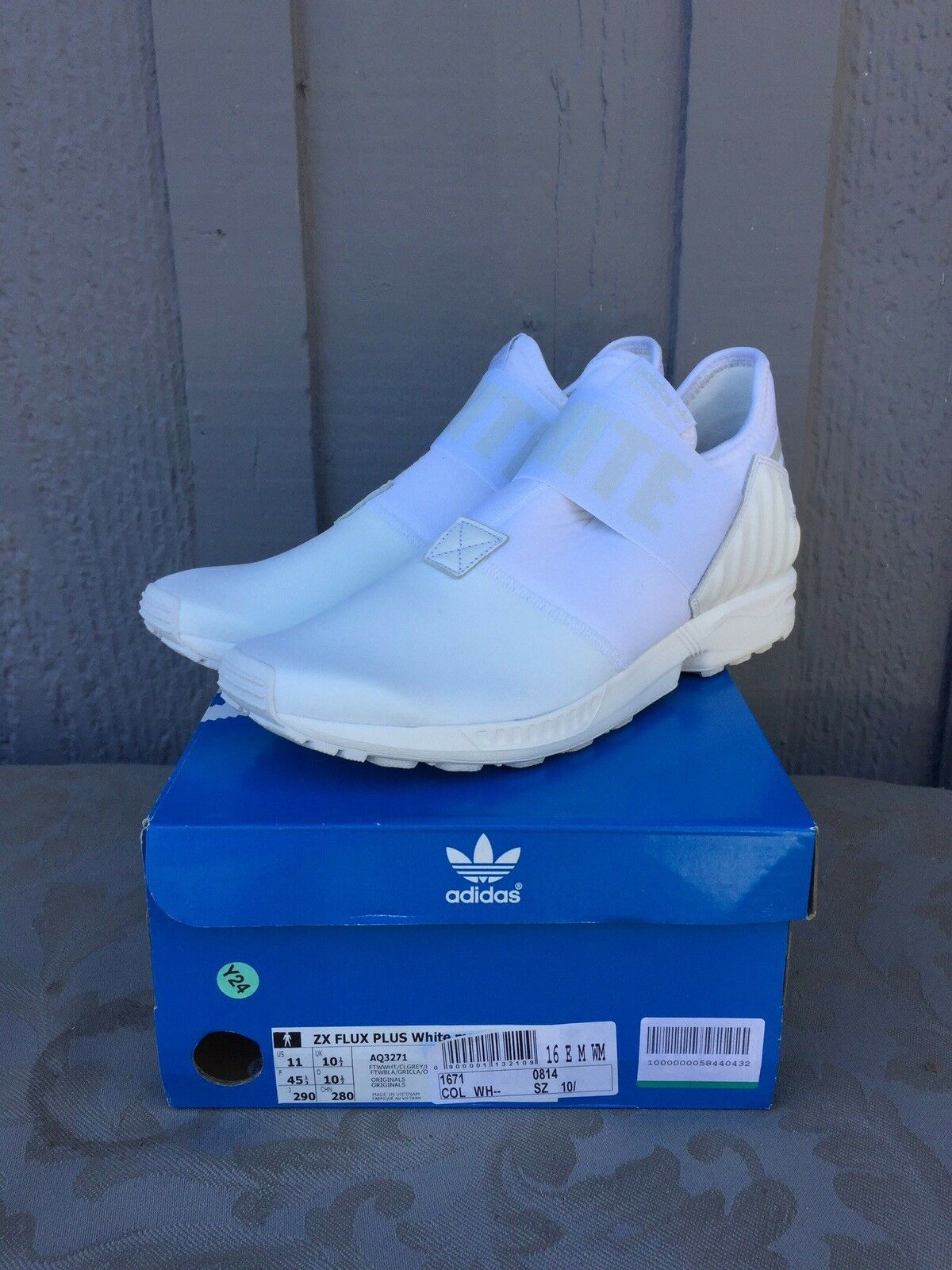 Adidas White Mountaineering Zx Flux White Size 11 New