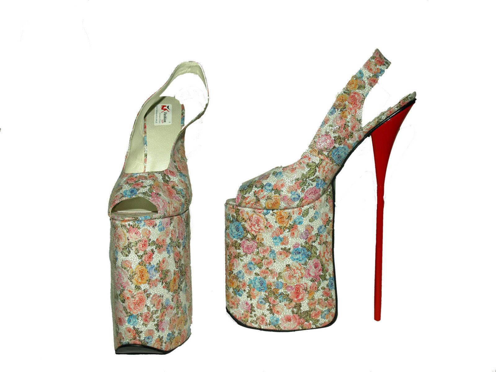 30CM HIGHS Stiefel Stiefel Stiefel FLOWERS EXCLUSIVE Größe 4-12 PLATFORM 20CM -POLAND FS 1518 f249b0