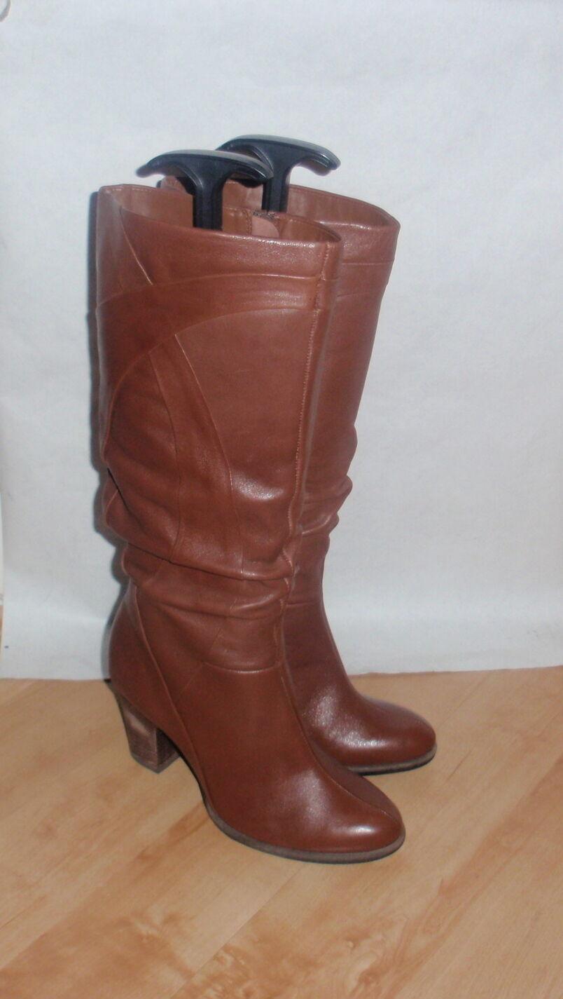NEW Clarks damen braun leather knee high Stiefel - various Größes