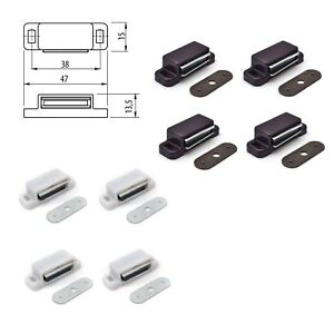 Magnetic Door Latch For Kitchen Cabinet Cupboard Wardrobe Catches Packs