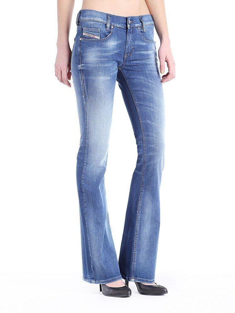 Diesel LouvStiefel 0664S Damen Jeans Hose Slim Stiefelcut
