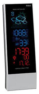 MEBUS Funk Wetterstation Wetterprognose Temperatur Uhr Kalender Alarm LCD NEU
