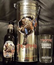IRON MAIDEN TROOPER Collectors Gift Set Tin, Pint Glass & Bottle,Metallica,Eddie