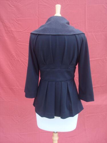 blazer argent Klein collier Nouveau veste Calvin manteau décoré noir femmes ceinturé qFRZ8wIxH