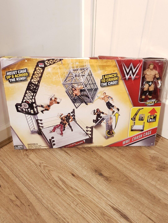 WWE Crash Cage Playset and Triple H Figure DAMAGED BOX