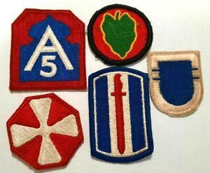 USA-Lot-de-5-patchs