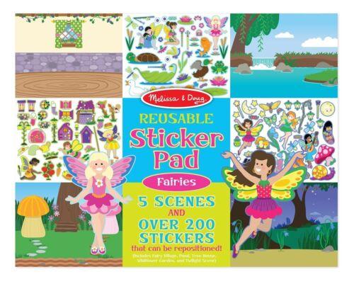 Reusable Stickers Melissa /& Doug Reusable Sticker Pad Fairies 200