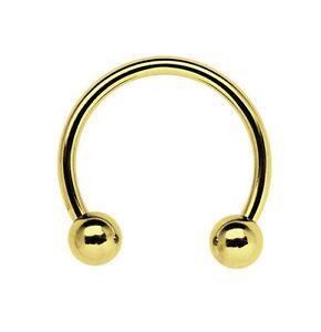 Body Piercing Jewelry Jewelry & Watches Dutiful Pecho Septum Piercing Anillo De Hilo Rosca Cbr En Oro 1,6mm Con 2 Cerradura Bola