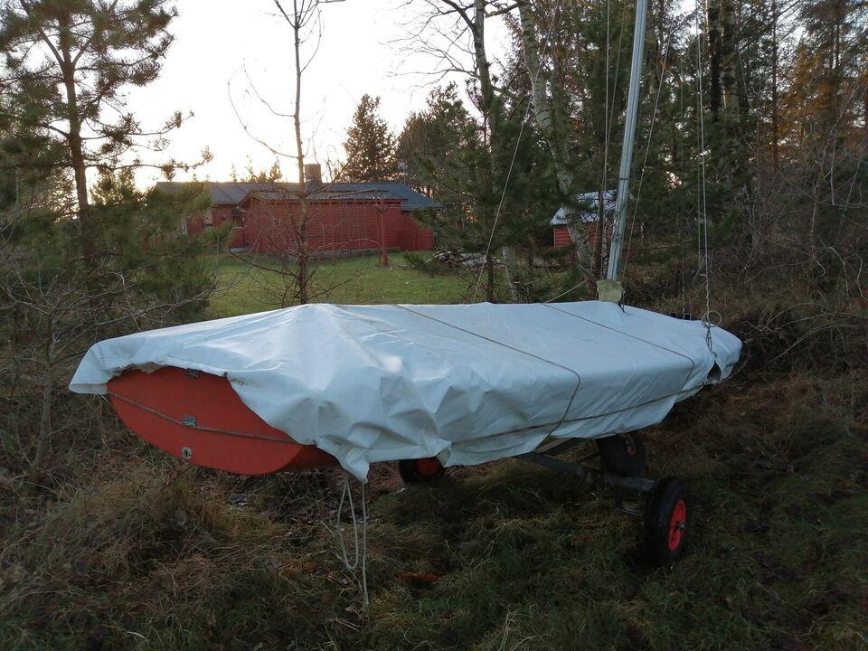 Flipperjolle, Glasfiber, 12 fod