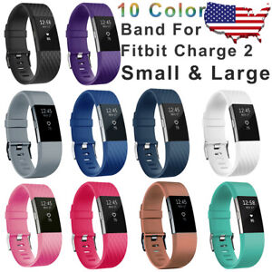 Replacement-Wristband-For-Fitbit-Charge-2-Band-Silicone-Fitness-Small-Large