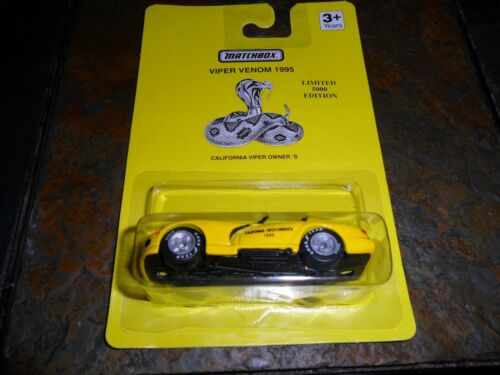 1995 MATCHBOX CALIFORNIA VIPER OWNER/'S VIPER VENOM LIMITED EDITION ONLY 5000