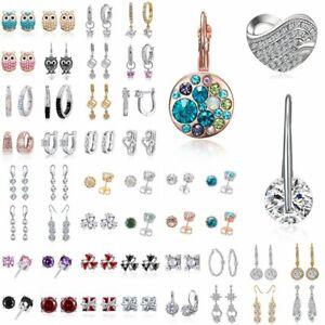 Women-Crystal-Rhinestone-Dangle-Drop-Ear-Stud-Wedding-Fashion-Earrings-Fashion