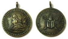 Medaglia Pius IX Pont. Max. Anno 1877 Bronzo