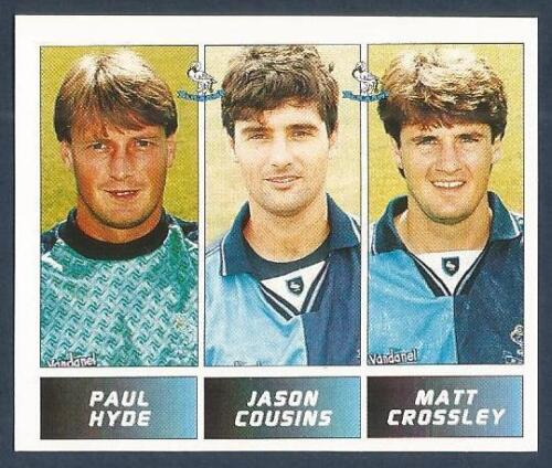 PANINI FOOTBALL LEAGUE 1996 M CROSSLEY #436-WYCOMBE-P HYDE J COUSINS