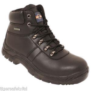 Pro Hombre pm4008 S3 Negro Resistente Al Agua De Acero Puntera Seguridad Botas bota el calzado