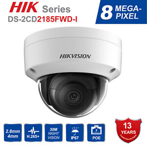 Hikvision DS-2CD2185FWD-I 8MP H.265 WDR Onvif IP Security Camera Audio 2.8mm