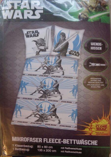 Star Wars Kinder Mikrofaser Fleece Bettwasche 135 X 200 Wendekissen
