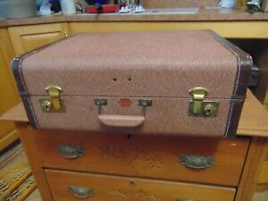 Vintage /antique Travel Luggage Suitcase Nice # 7057 Relieving Heat And Sunstroke Furniture