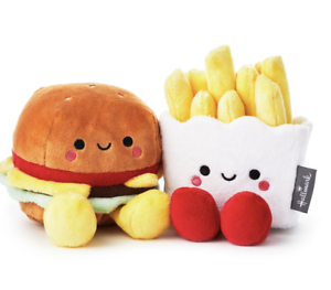 Hallmark-Valentine-Better-Together-Burger-and-Fries-Magnetic-Plush-New-with-Tag